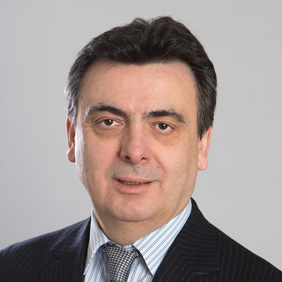 Portrait of Gianni Mattioli, Daltile's Executive Vice President of Marketing, Research and Development.