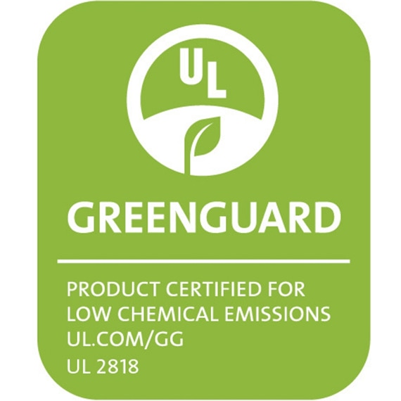 GreenGuard: Product certified for low chemical emissions UL.com/GG UL 2818