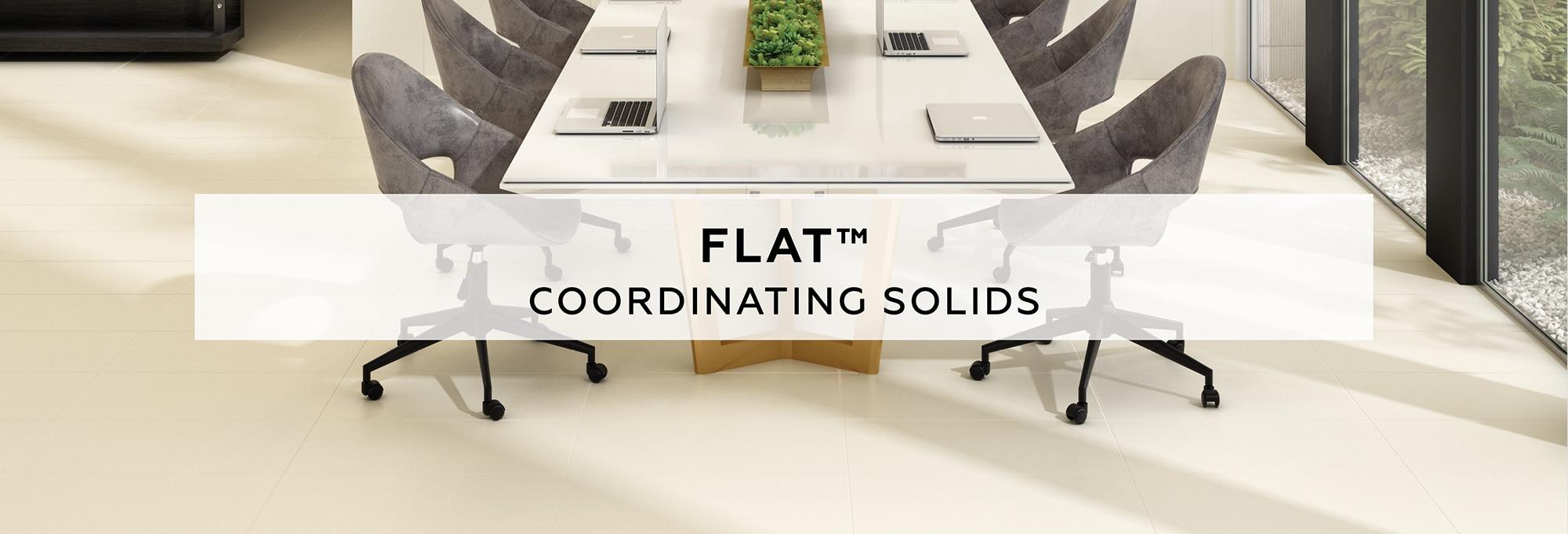 Flat coordinating solids