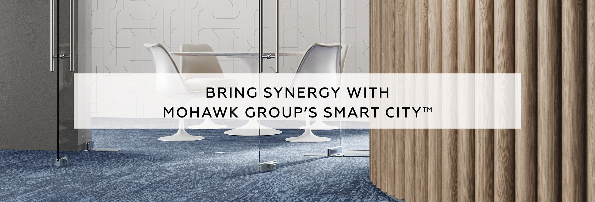 Bring synergy with Mohawk Group's Smart City carpet.