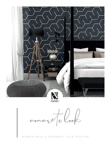 Concrete look tile by Daltile. Porcelain and ceramic tile designs.