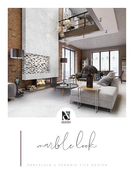 Marble look tile by Daltile. Porcelain and ceramic tile designs.