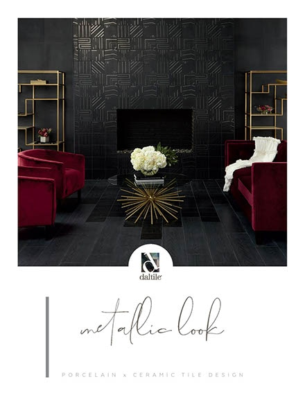 Metallic look tile by Daltile. Porcelain and ceramic tile designs.