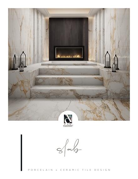 Slab by Daltile. Porcelain and ceramic tile design.