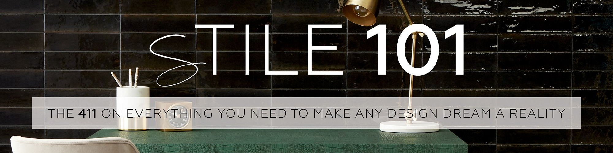 From inspiration to how-to instructions, Daltile has compiled basic information to make working from home a little easier for designers, architects, and DIYers