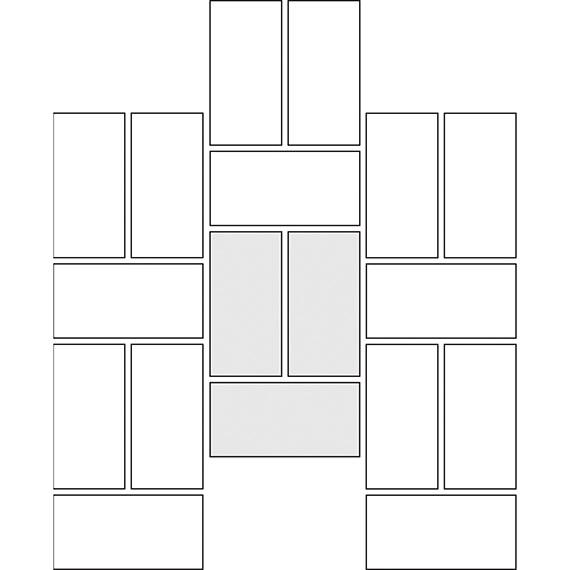 Vertical basket weave tile pattern guide