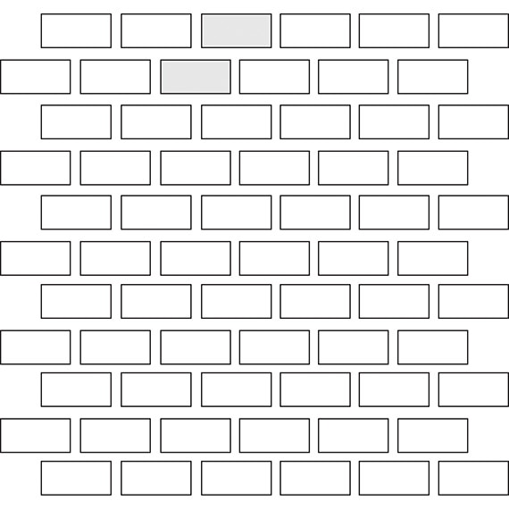 Brick joint tile pattern guide