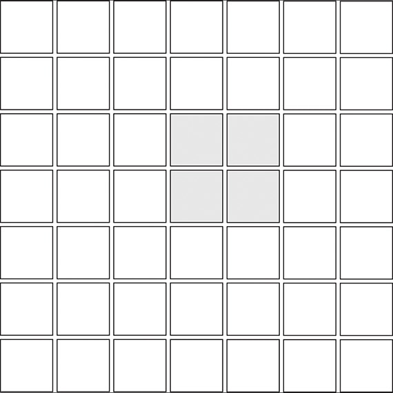 Checkerboard tile pattern guide