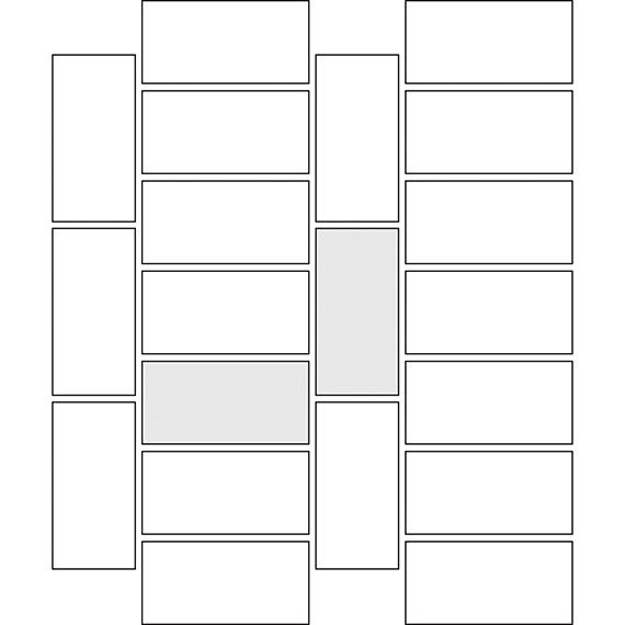Horizontal corridor tile pattern guide
