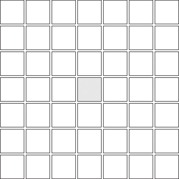 Mini grid tile pattern guide