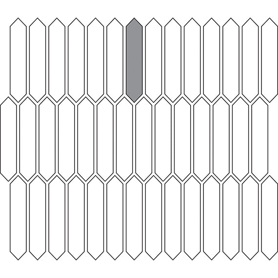 Picket tile pattern guide