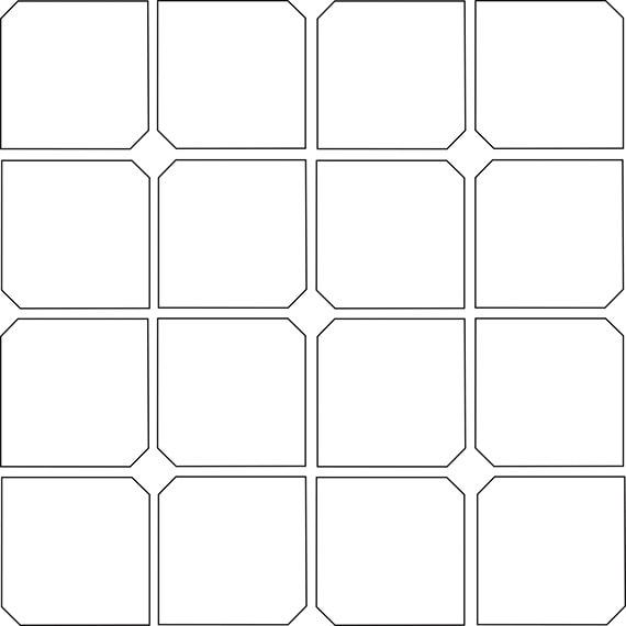 Hexagon dot tile pattern guide