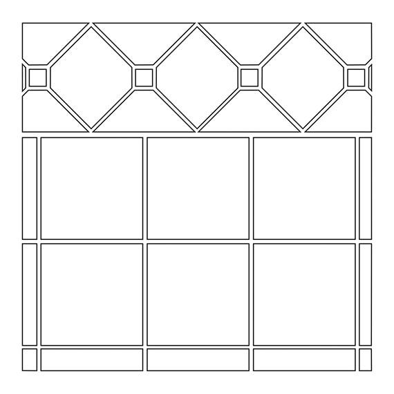 Diamond and dot border tile pattern guide