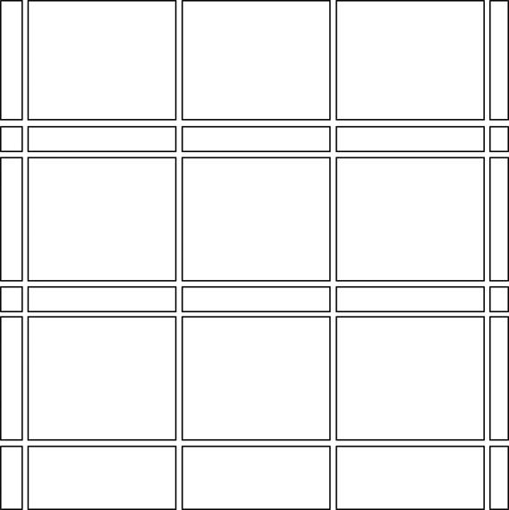 Grid liner border tile pattern guide
