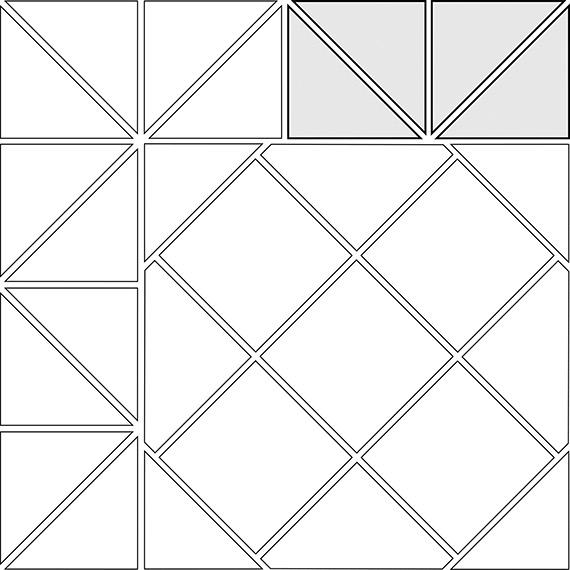 Zig zag border tile pattern guide