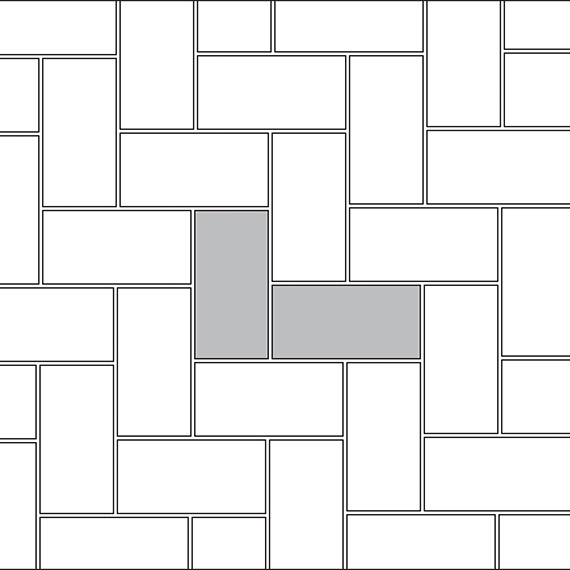Hexagon tile pattern guide