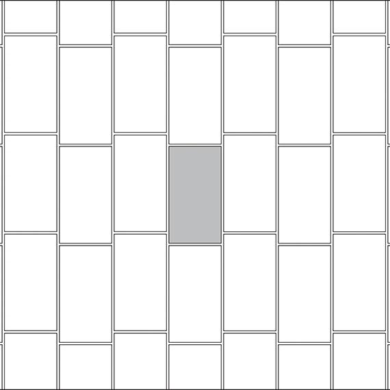 Vertical brick joint tile pattern guide