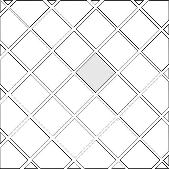 Diamond tile pattern guide