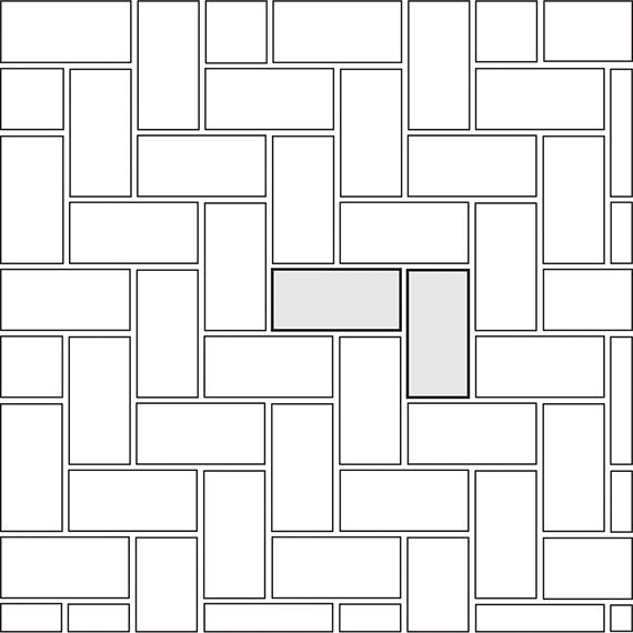 Herringbone tile pattern guide