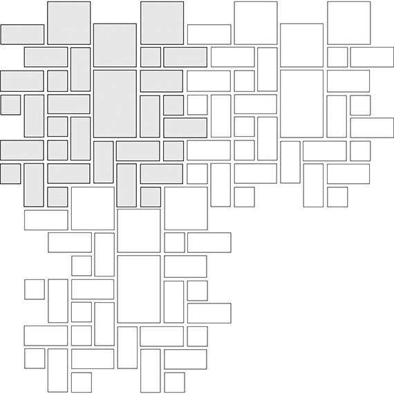 Interlocked tile pattern guide