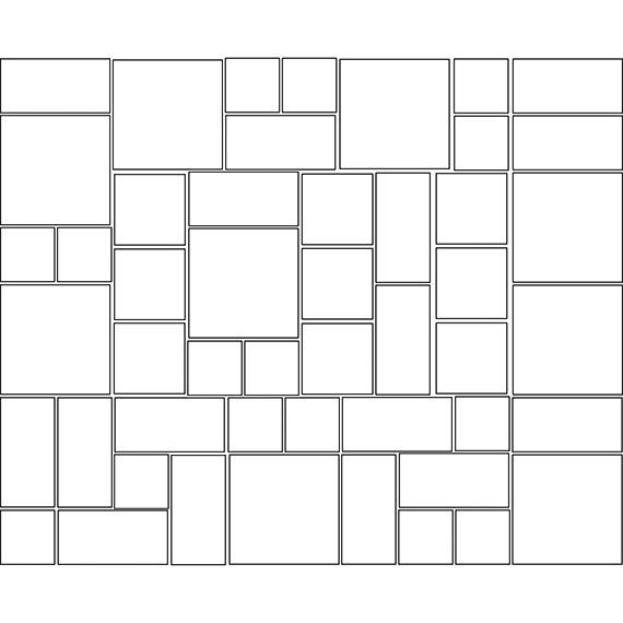 Interlocking modular tile pattern guide