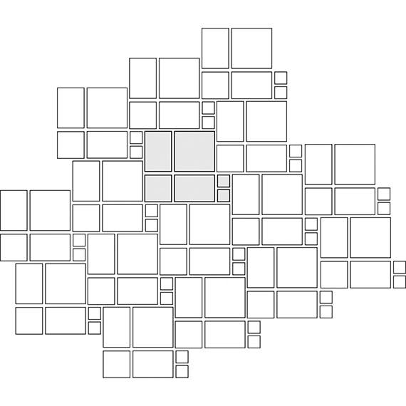 Kaleidoscope tile pattern guide