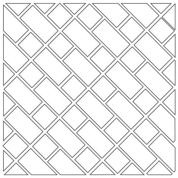 Lacework tile pattern guide for two tile sizes