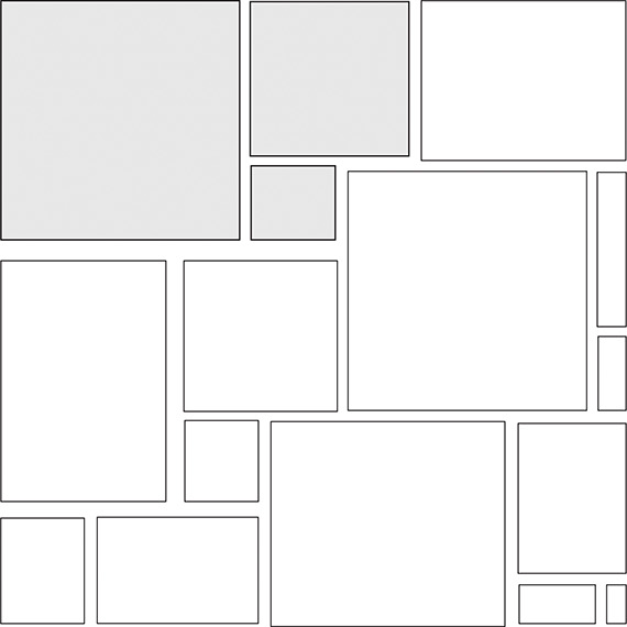 Modified hopscotch with insert tile pattern guide