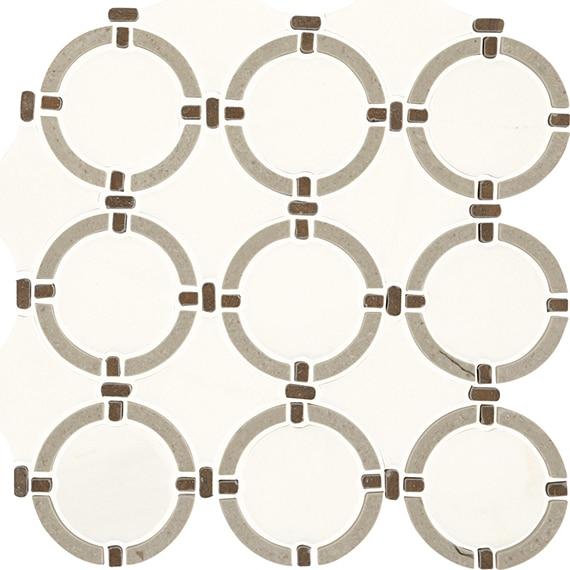 Daltile Mosaic Raine in Status White Blend DA37