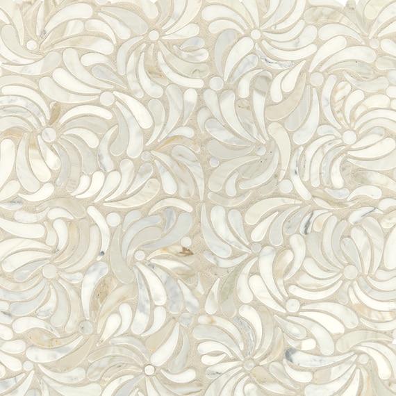 Daltile Mosaic Lavaliere Windblown in Calacatta Gold LV29