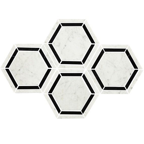 Daltile Mosaic Marble Collection in Black/White M753