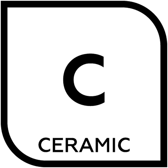 An icon representing ceramic tile with the letter C