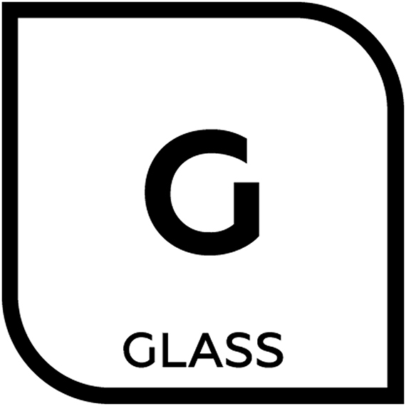 An icon representing glass tile with letter G