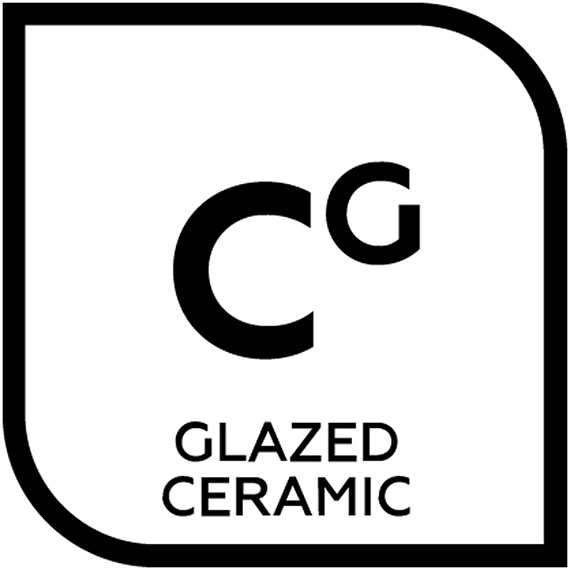 An icon representing glazed ceramic tile with the letter C with the letter G in superscript