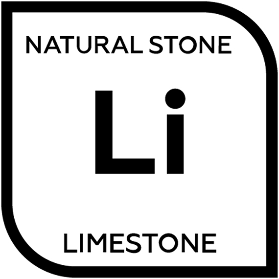 An icon representing natural limestone tile with the letter L