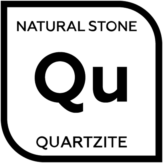 An icon representing natural quartzite with the letter Q and letter U