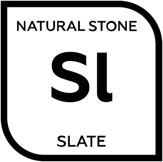 An icon representing natural slate tile with the letters S and L
