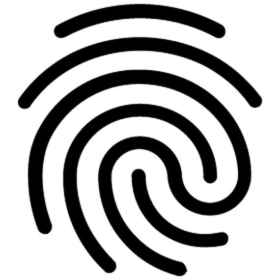 An illustartion of a fingerprint like swirl representing customization of tile