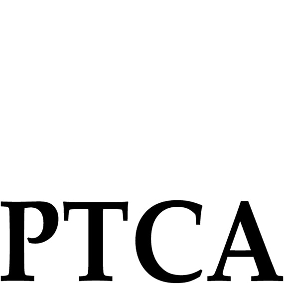 The PTCA logo featuring the letters PTCA in black block lettering